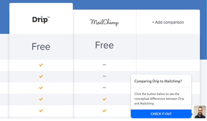 Leadpages comparison chat