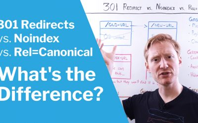 "301 Redirects, Noindex, and Rel=""Canonical""—What's the Difference?"