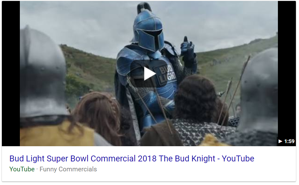 Featured video for Bud Light super bowl ad