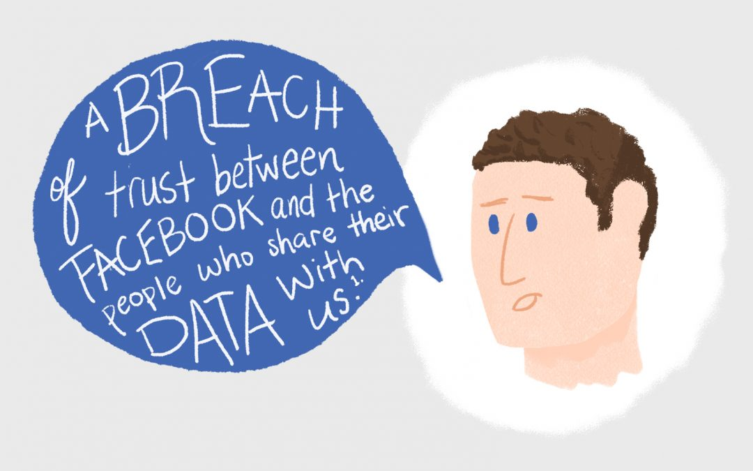 Mark Zuckerburg with a speech bubble