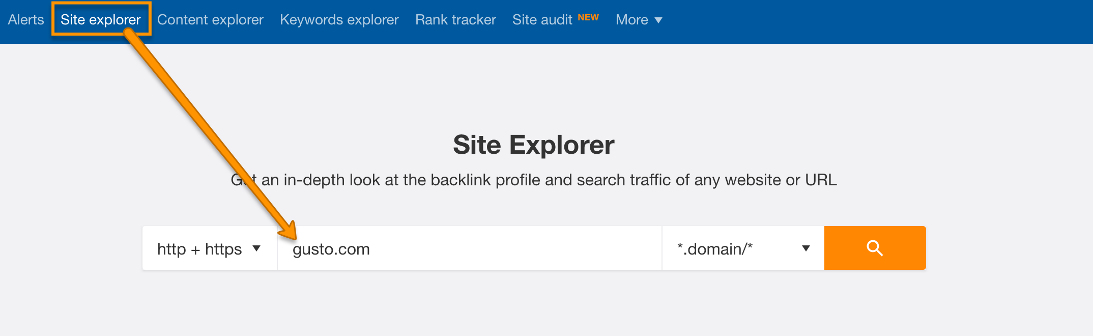 Use Ahrefs site explorer to find featured snippets
