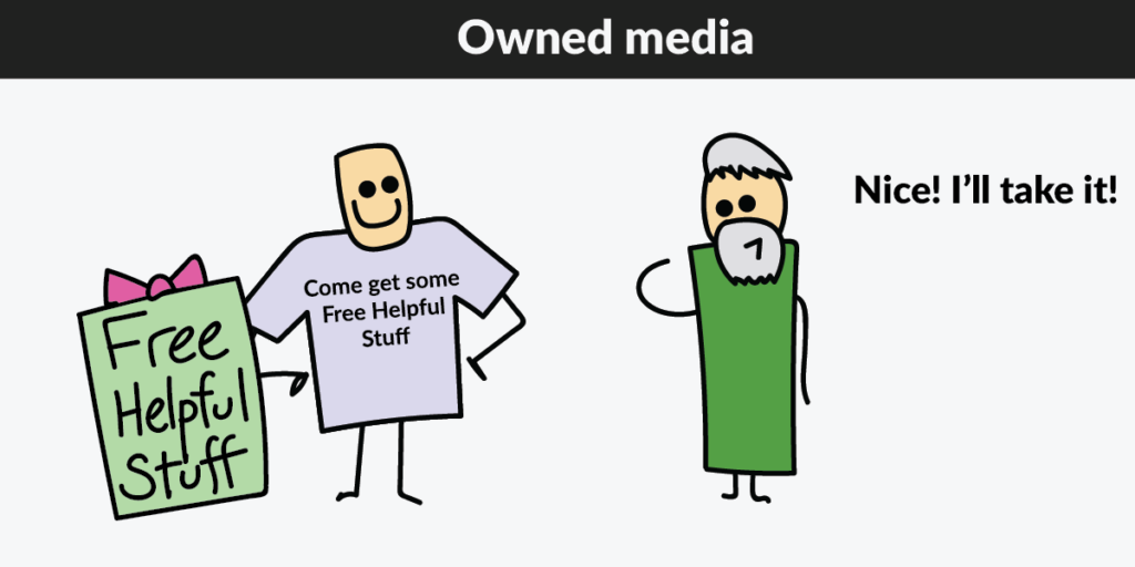 Owned media shirt