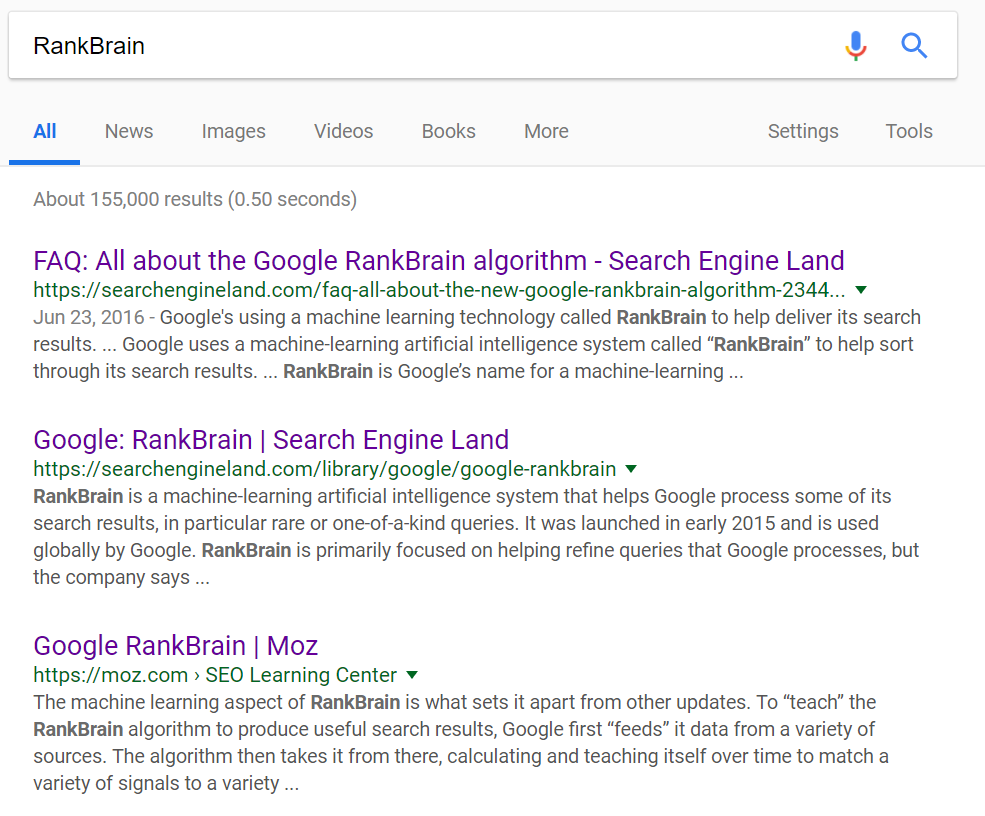 "Search results for ""rankbrain"""