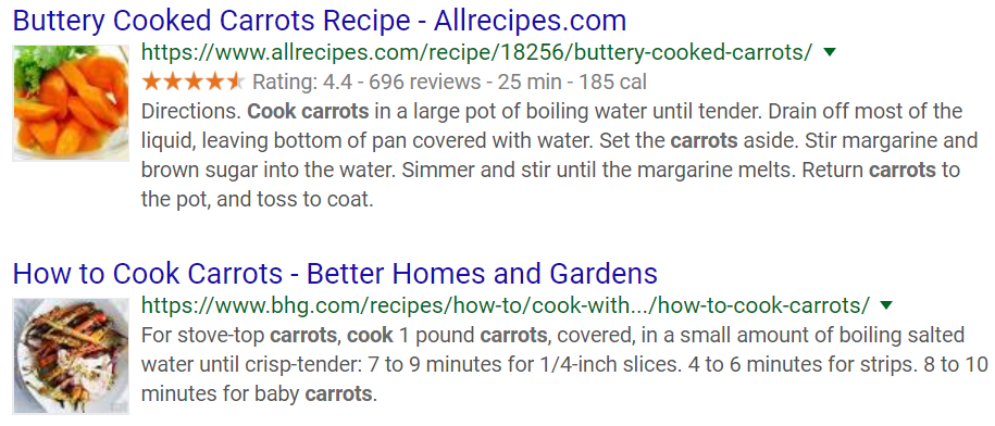 Search results for how to cook a carrot
