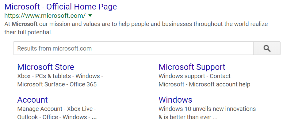 Searchbox lets you explore Microsoft.com on Google